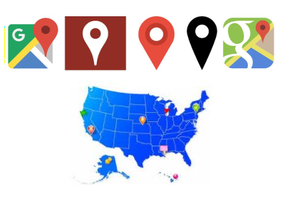 Google Map Marker Color and Mouse Hover Text